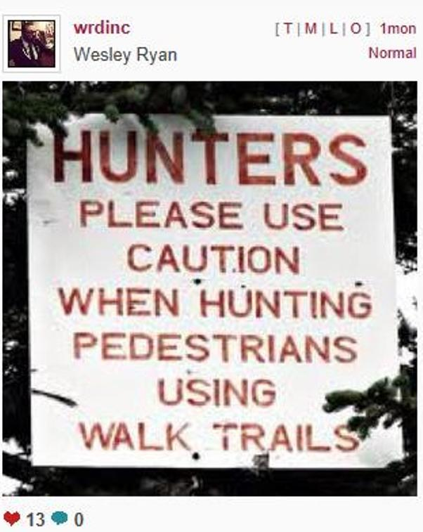 Punctuation Saves Lives: Please Use Caution When Hunting ...