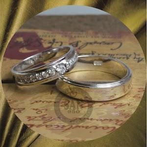 cincin emasputih perak p5772