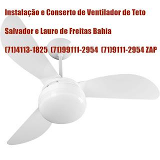 Baixa rotação no ventilador de teto