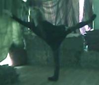Ballerina Therese de la Fontaine showing her adagio arabesque.