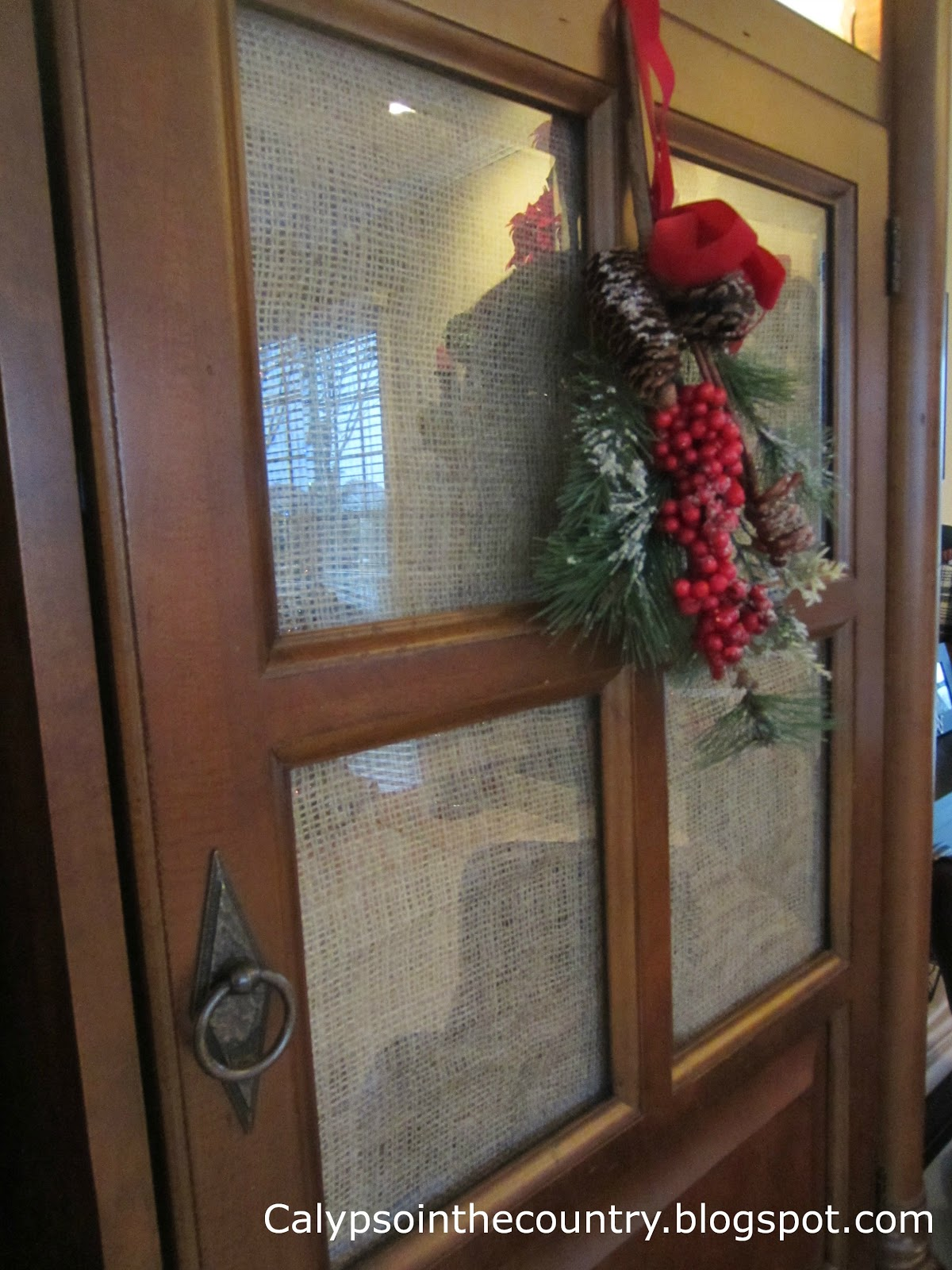 Creative Use to Hide Clutter Using Burlap