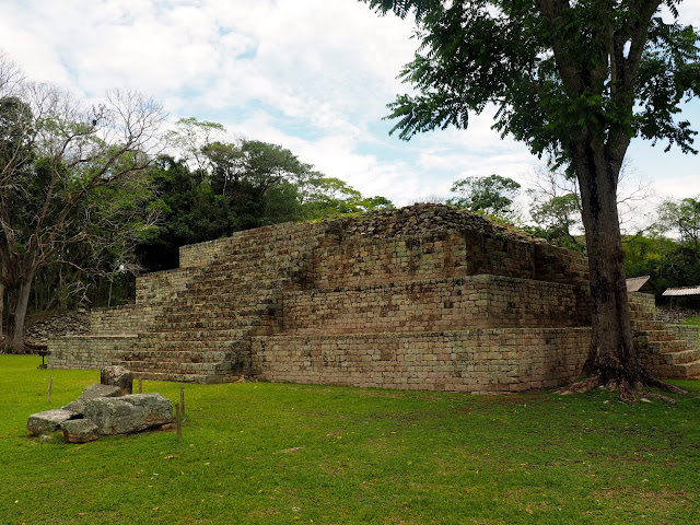 Mayan temple ruins outside Copan, Honduras