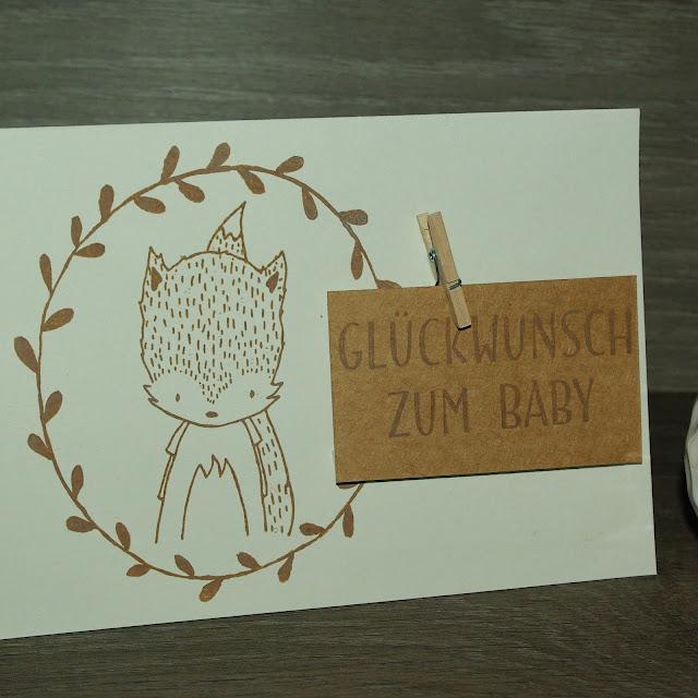 [DIY] Glückwünsche zur Geburt: Kleiner Fuchsjunge sagt Hallo!