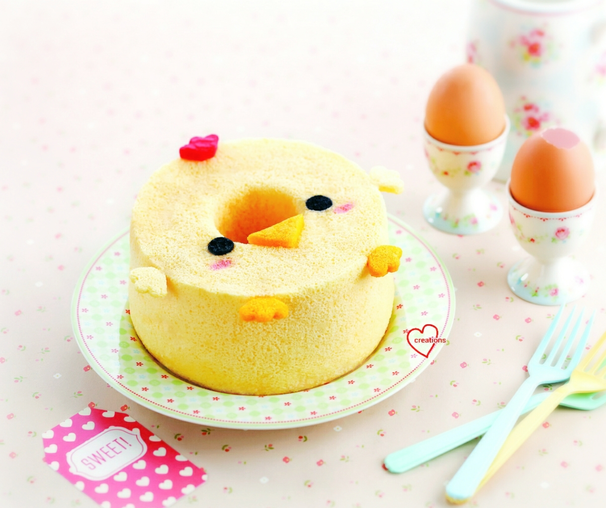 loving creations for you baby rooster orange chiffon cake