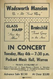 1971 PACKARD MUSIC HALL CONCERT FLYER - WARREN OHIO