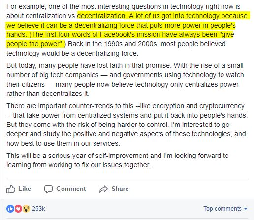 Mark Zuckerberg Crypto BTC