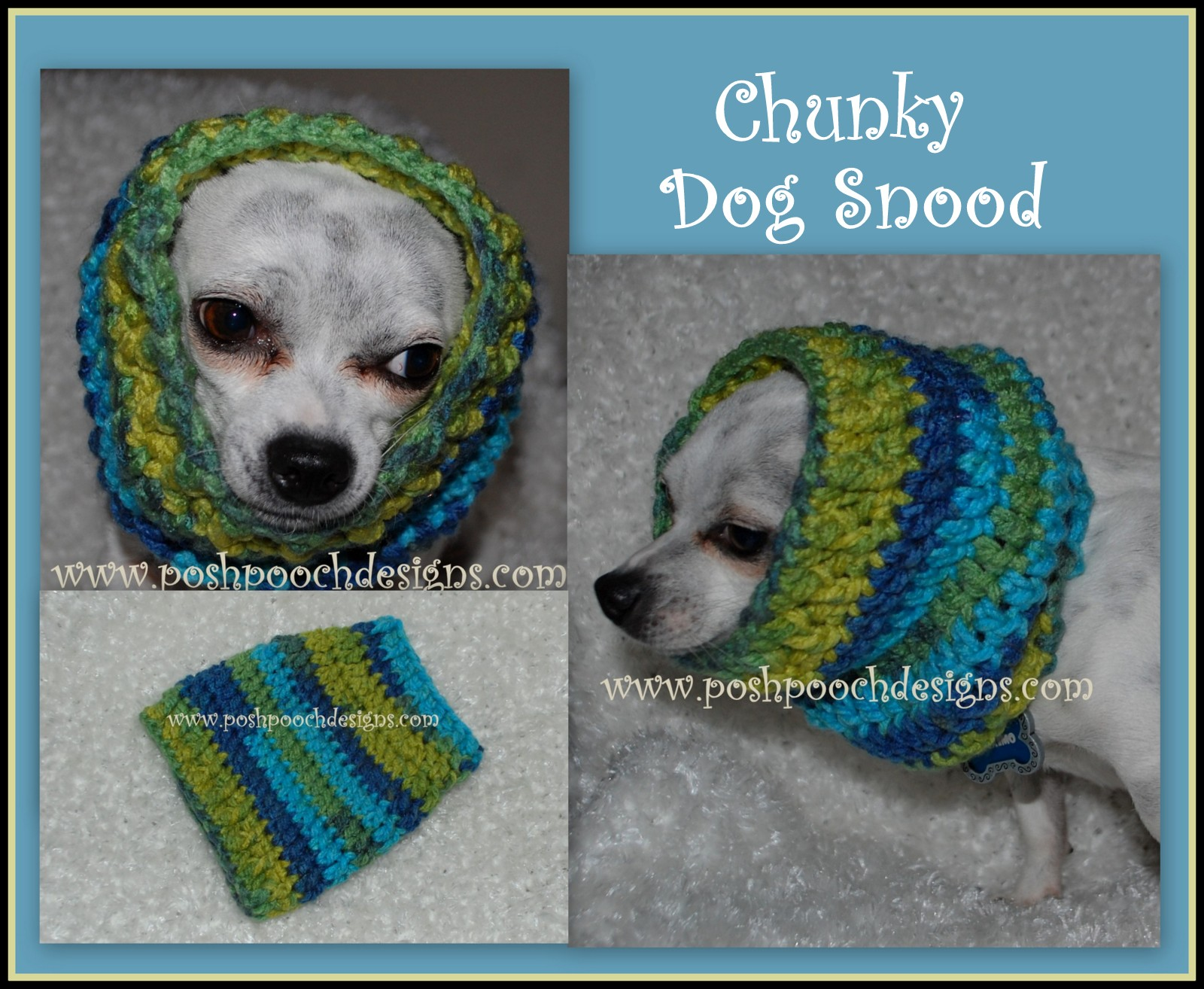 Posh Pooch Designs Dog Clothes: Dog Snood Crochet Pattern - For All ...