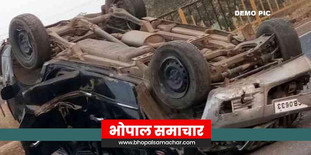 मप्र में अकोला महाराष्ट्र के वाघचोरे परिवार का एक्सीडेंट, 4 मौतें | MP NEWS