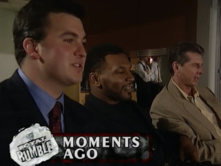 WWE / WWF Royal Rumble 1998 - Iron Mike Tyson hangs with Shane and Vince McMahon