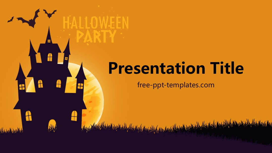 halloween party ppt template. Black Bedroom Furniture Sets. Home Design Ideas
