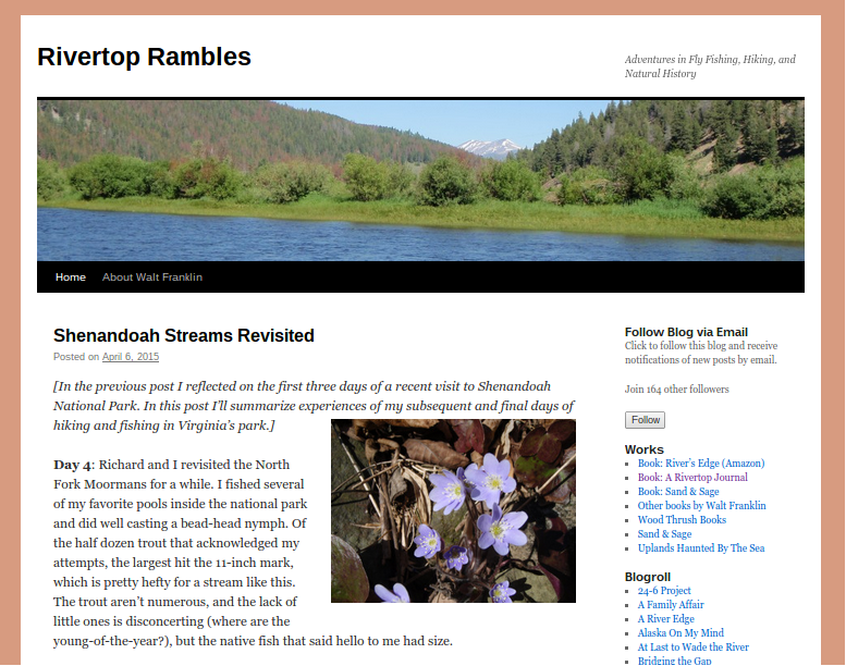 Rivertop Rambles Blog