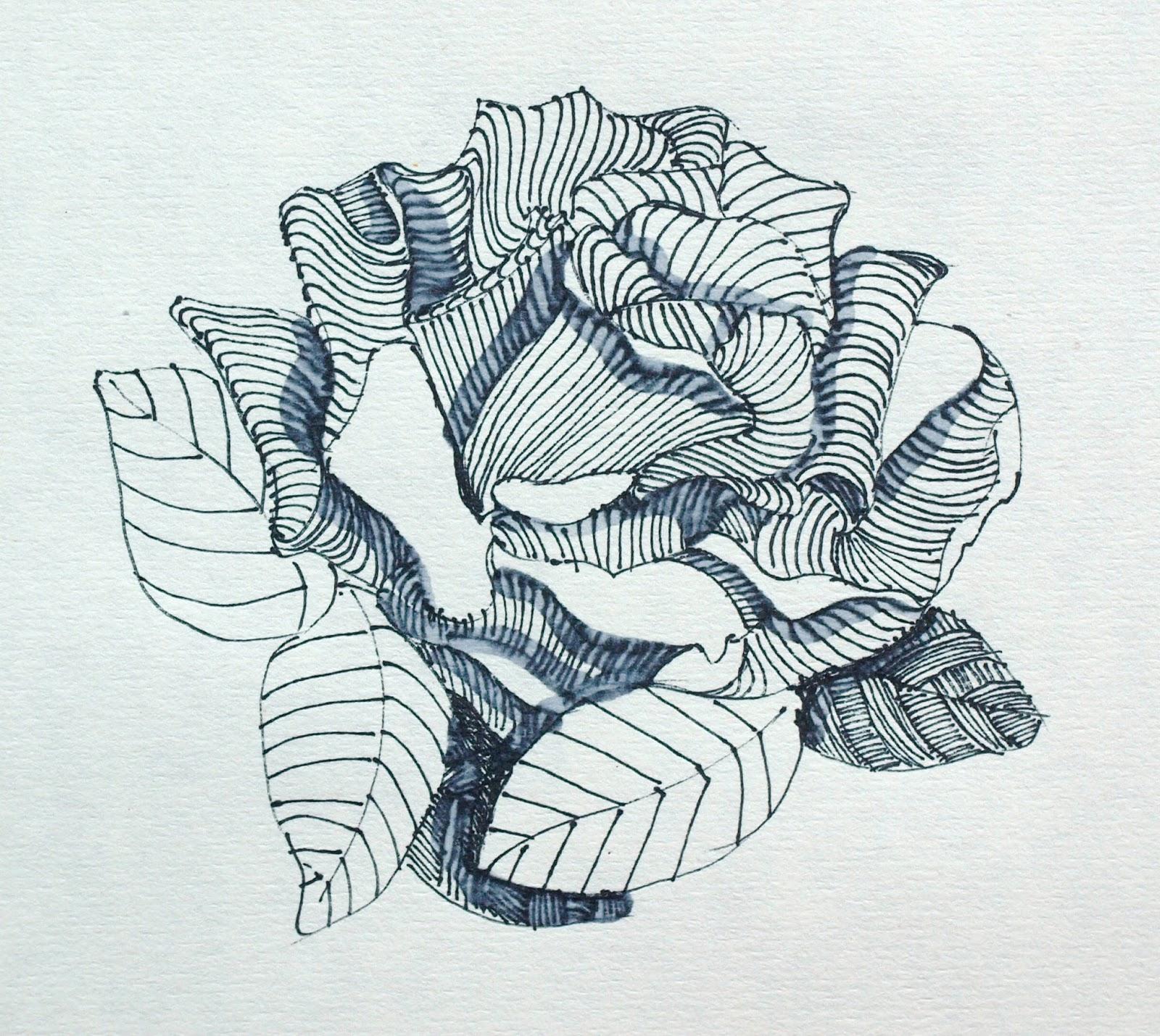 Artiqueryrose Zentangle Rose