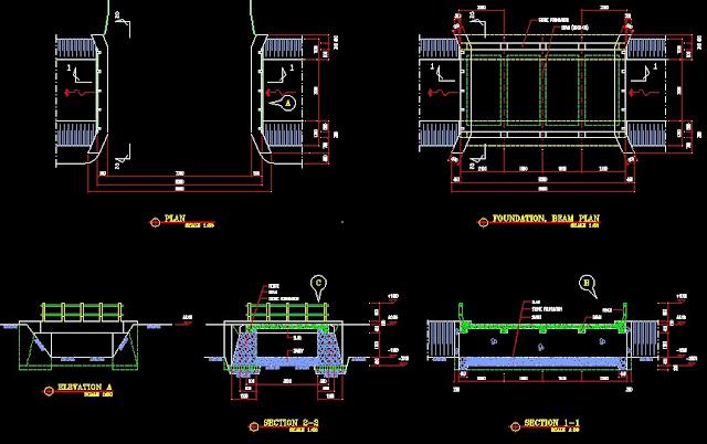 Gambar Kerja Jembatan Format DWG Gratis