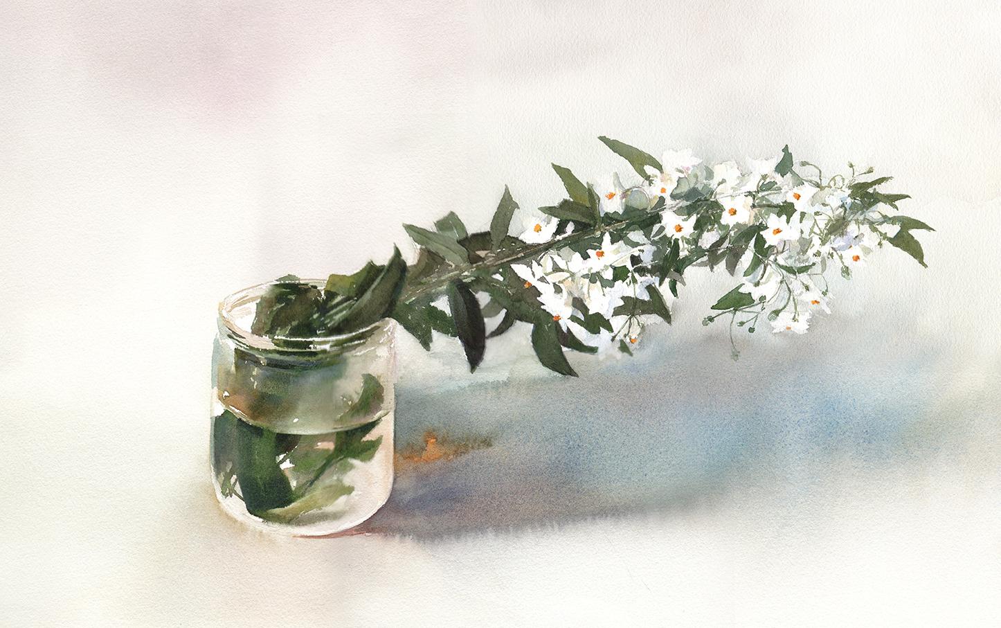 White Autumn Flowers