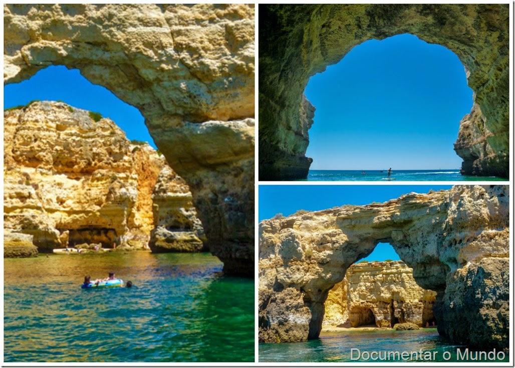 Grutas Marinhas no Algarve; Sea Caves Algarve; Grotten Fahrt Algarve