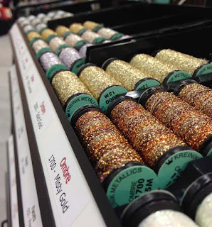 Kreinik Ombre is an 8-ply softtly twisted metallic thread