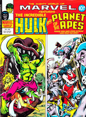 Mighty World of Marvel #242, Hulk and Planet of the Apes