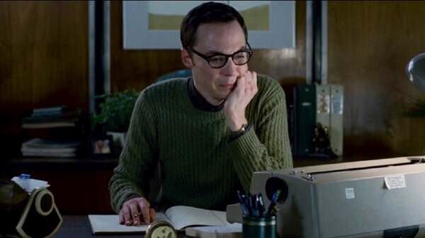 Jim Parsons en una dramática escena de The Normal Heart