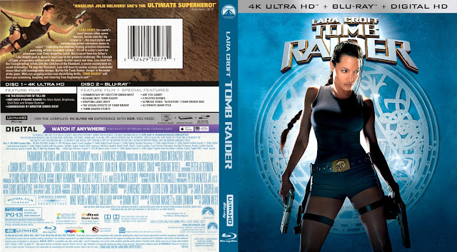 Lara Croft Tomb Raider 4k Bluray Cover