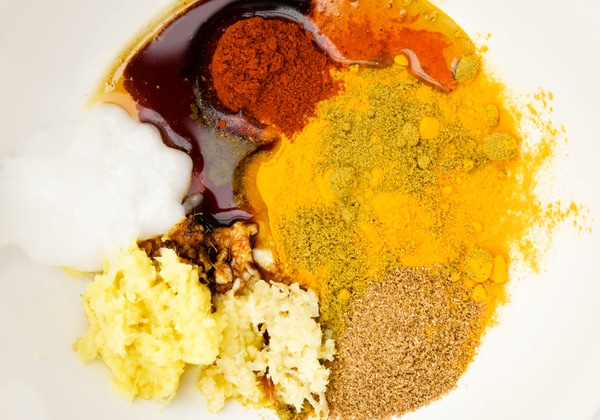 ingredients for tandoori paste