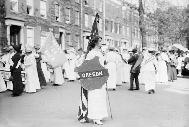 Actress Margaret Vale Howe, a participant in the suffrage parade in Washington, District of Columbia, in March of 1913.
