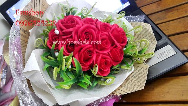Hoa hong sap thom vinh cuu tai Long Bien