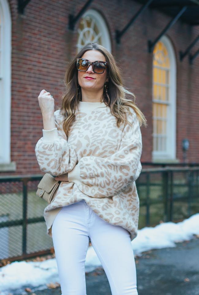 Leopard Print Sweater for Spring