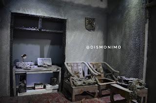 Gambaran rumah warga terkena debu vulkanik letusan Gunung Merapi