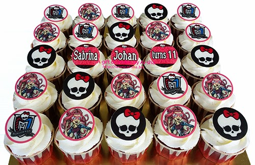 Birthday Cupcake Edible Image Monster High