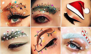 la navidad en instagram, cejas navideñas