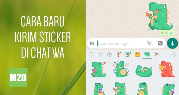 Cara Baru Kirim Sticker di Chat WhatsApp