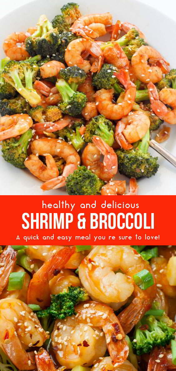 Skinny Sriracha Shrimp and Broccoli #seafoodrecipes #vegetarianfoods #healthyrecipes #healthyfoods