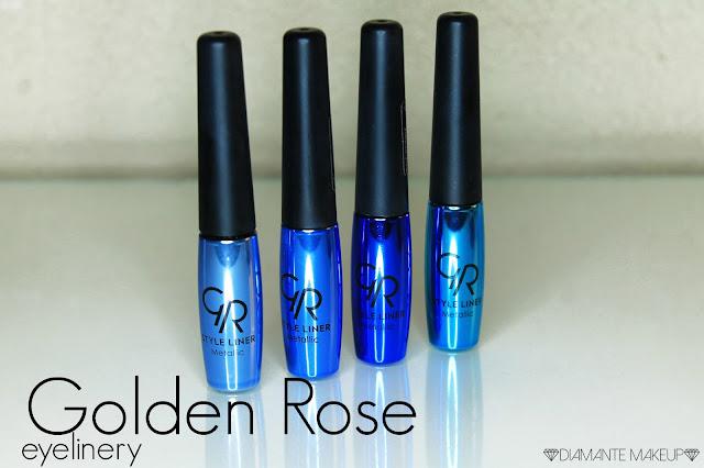 Metaliczne Eyelinery Golden Rose - Recenzja