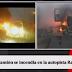 Camión se incendió en plena autopista Ramiro Prialé