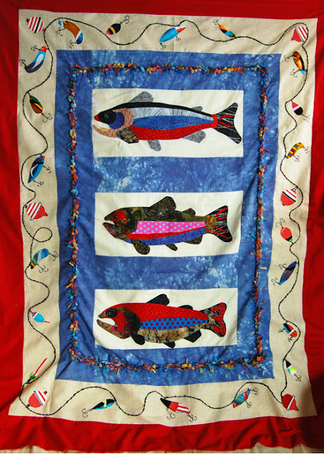 Completed Trout Quilt