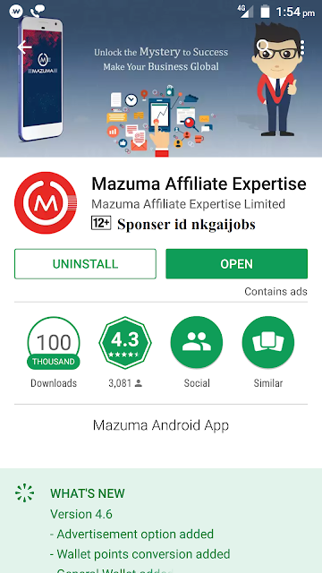https://play.google.com/store/apps/details?id=com.mazex&referrer=tracking_id%3Dnkgaijobs