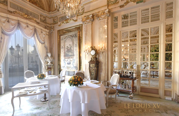 Le Louis XV Restaurant at Hotel Paris in Monaco - found on Hello Lovely Studio