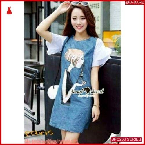 SPC263D39 Dress Paris Denim Bhn Dress Wanita | BMGShop
