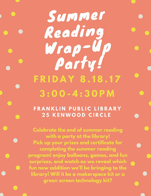 Franklin Public Library: Summer Reading Wrap-Up Party
