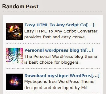 How To Create Random Post with Thumbnail
