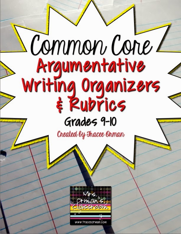 High School Common Core and PARCC Writing for Argumentatives {blog post}