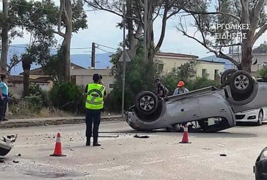 Τροχαίο ατύχημα στη Νέα Κίο μα ανατροπή αυτοκινήτου και τραυματία