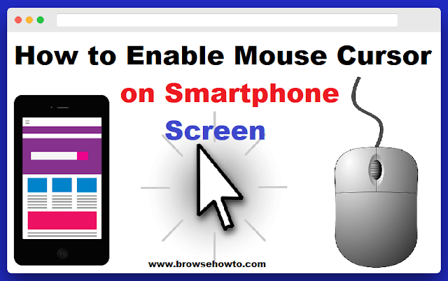 how to use cursor on smartphone screen