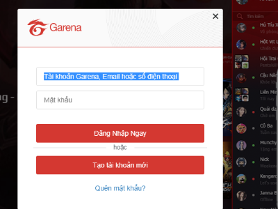 Hướng dẫn đăng ký nick Fifa Online 4 Garena