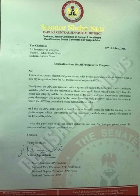 BREAKING: President Buhari And Gov El-rufai Shaved Sen Shehu Sani Behind His Back, Leads To Lawmaker's Exit From APC