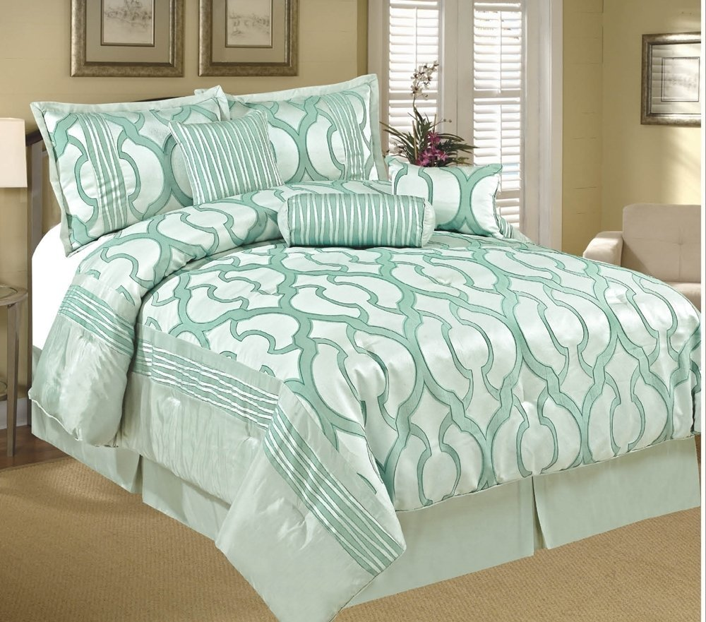 Bedroom Sets Full Size Mint Black And White Bedroom Ideas Lighting For Small Bedroom Bedroom With Black Accent Wall: Alive & Breezy-Cool: Mint Colored Bedding And Comforter Sets