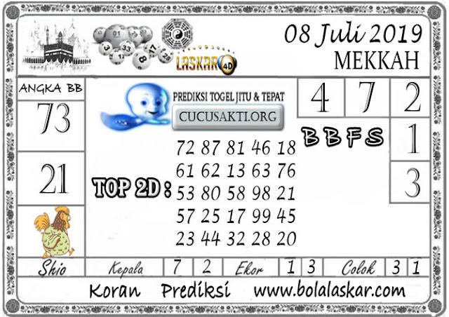 Prediksi Togel MEKKAH LASKAR4D 08 JULI 2019