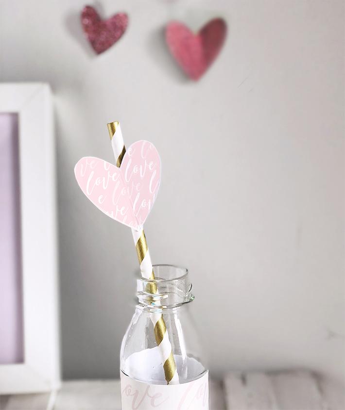 cannuccia di san valentino a cuore