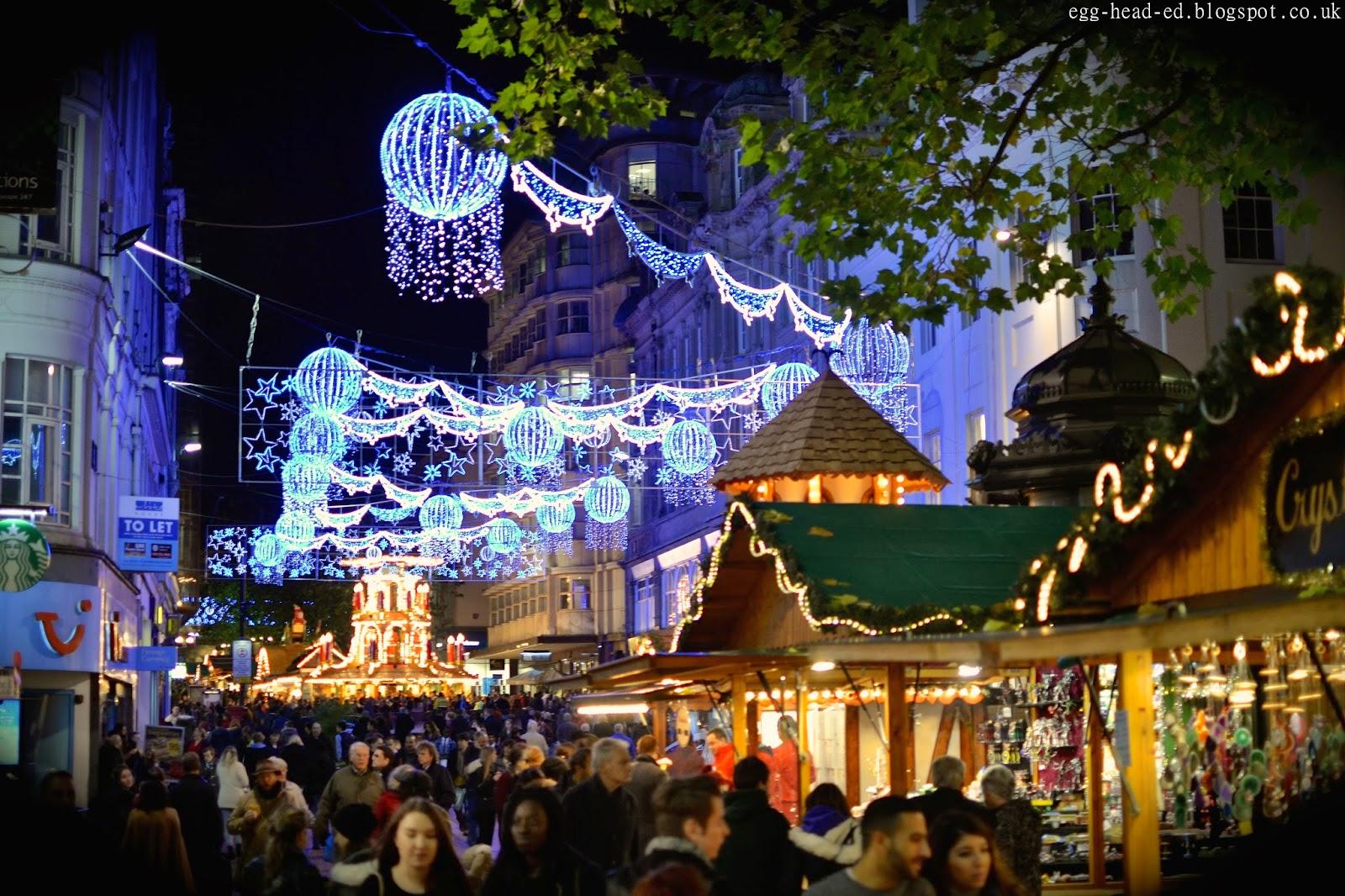 Birmingham Christmas Market High Street Stalls