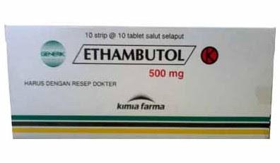 Harga Ethambutol Obat Tuberkulosis atau TBC Terbaru 2017